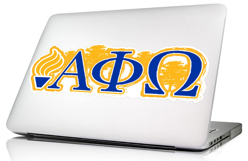 Alpha Phi Omega <br> 11.75 x 4.5 Laptop Skin/Wall Decal