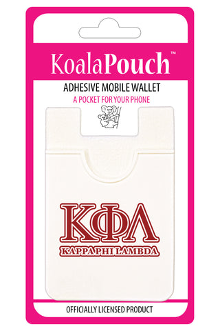 Kappa Phi Lambda <br> Koala Pouch<br>Adhesive wallet for your phone