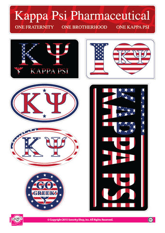 Kappa Psi <br> American Stickers