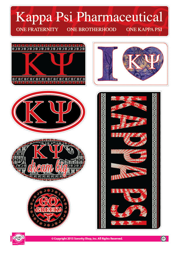Kappa Psi <br> Bohemian Stickers