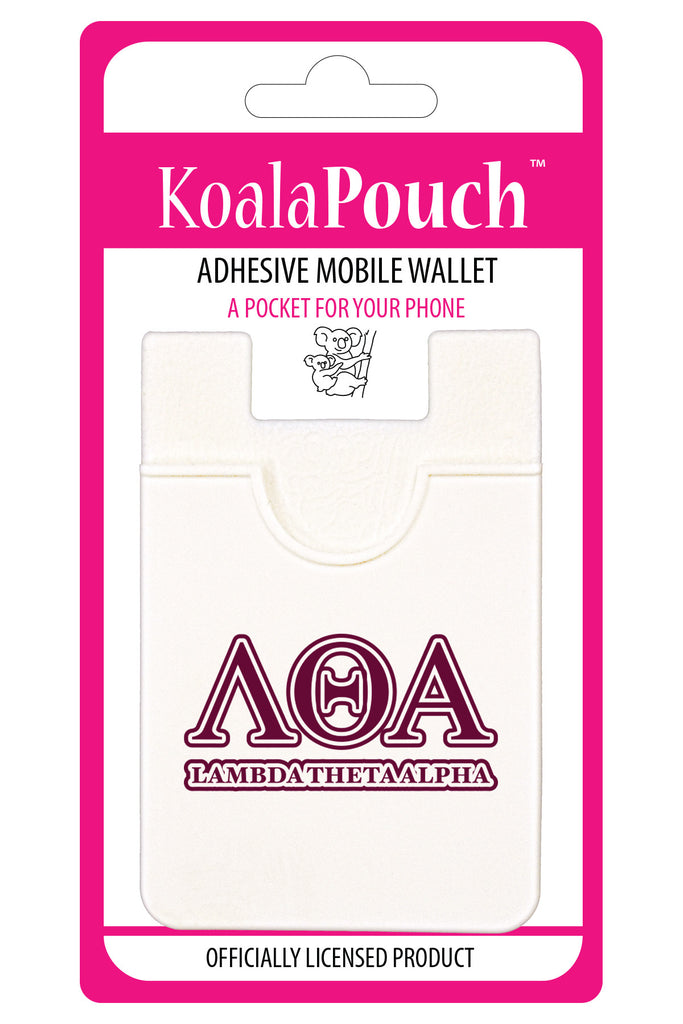 Lambda Theta Alpha<br> Koala Pouch<br>Adhesive wallet for your phone