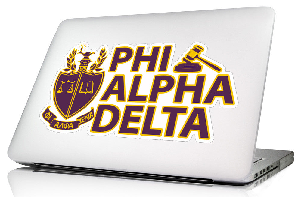 Phi Alpha Delta <br>11 x 6  Laptop Skin/Wall Decal