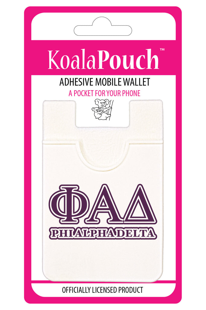 Phi Alpha Delta <br> Koala Pouch<br>Adhesive wallet for your phone