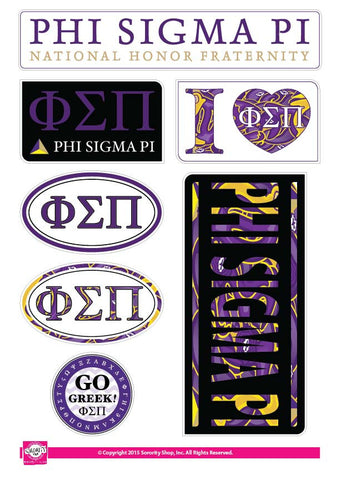 Phi Sigma Pi <br> Lifestyle Stickers