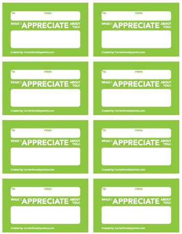 Appreciation Cards For Work - Free PDF