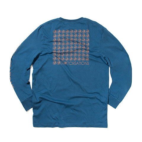 Hot Creations<br>Blue long sleeve tee
