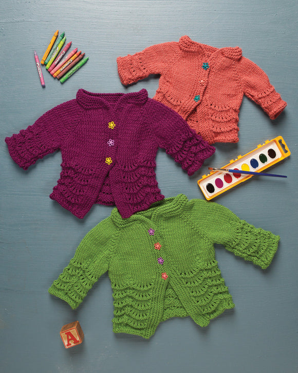 Cardita Baby Cardigan -- Knitting Patterns -- PDF Download
