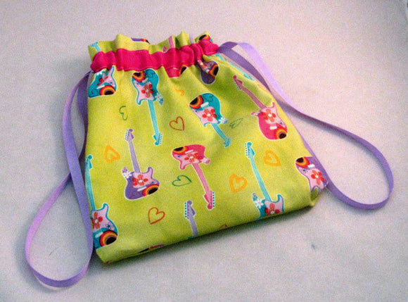 Pastel Guitars Hand Sewn Self-locking Project Bag (8
