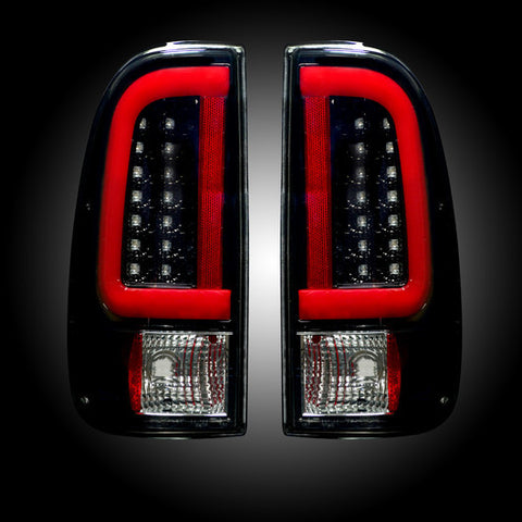 08-16 Ford Superduty Smoked LED Tail Lights