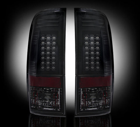 99-07 Ford Superduty and 97-03 F150 Smoked LED Tail Lights - Dezert Lighting LLC
