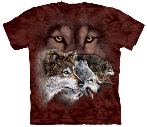 Wolf Shirt - Wolf Faces