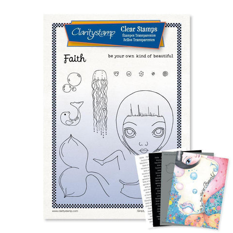 Large Dee's Friends - Faith <br/>Unmounted Clear Stamp Set <br/>+ MASK & 2x Phrase Sheets