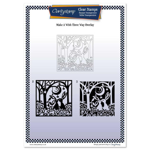 Make a Wish Three Way Overlay <br/>Unmounted Clear Stamp Set
