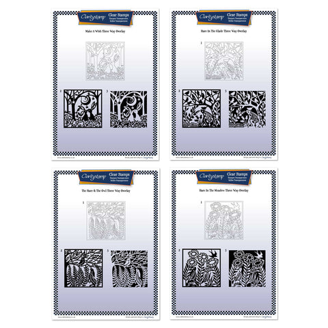 Make a Wish Three Way Overlay Collection <br/>Unmounted Clear Stamp Sets <br/>+ FREE Pack of 4 New Square Mounts!