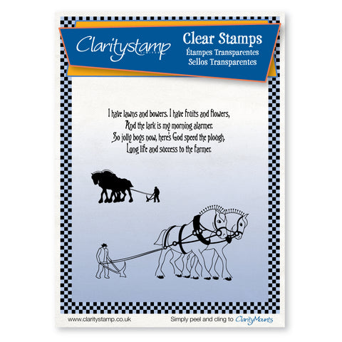Plough Scene <br/>Unmounted Clear Stamp Set