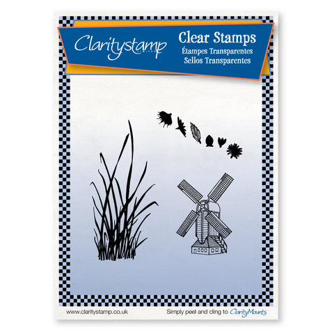 Windmill Scene <br/>Unmounted Clear Stamp Set