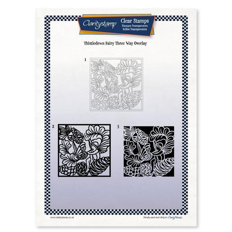Thistledown Fairy Three Way Overlay <br/>Unmounted Clear Stamp Set