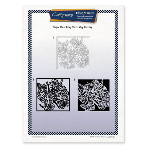 Sugar Plum Fairy Three Way Overlay <br/>Unmounted Clear Stamp Set