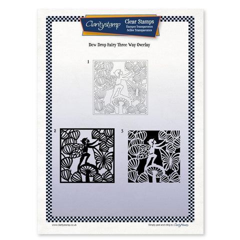 Dewdrop Fairy Three Way Overlay <br/>Unmounted Clear Stamp Set