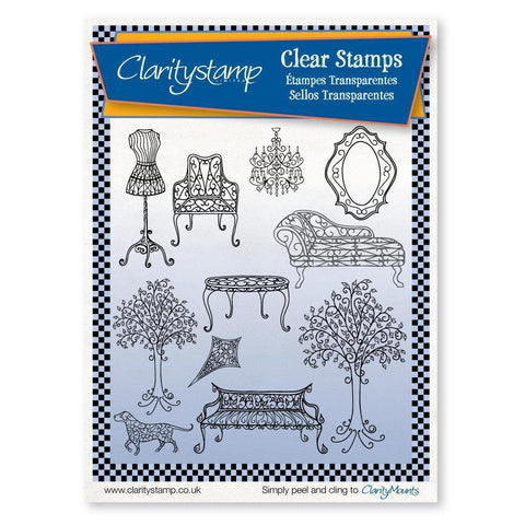Wrought Iron Doll's House <br/>Unmounted Clear Stamp Set