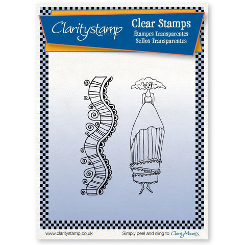 Annabel + MASK <br/>Unmounted Clear Stamp Set