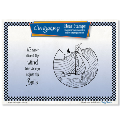 Adjust the Sails <br/>Unmounted Clear Stamp Set