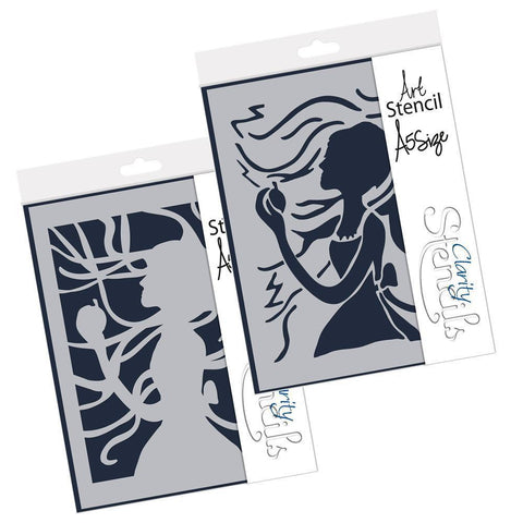 Apple Girl Duet Stencil Set A5