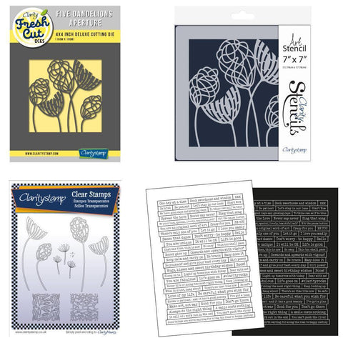 Dandelion Collection <br/>Stamps, Die, Stencil & Stickers Bundle