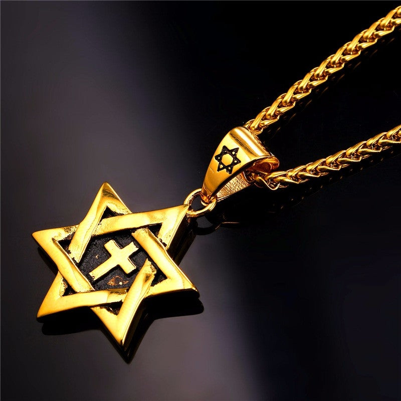 Bold Star of David Necklace