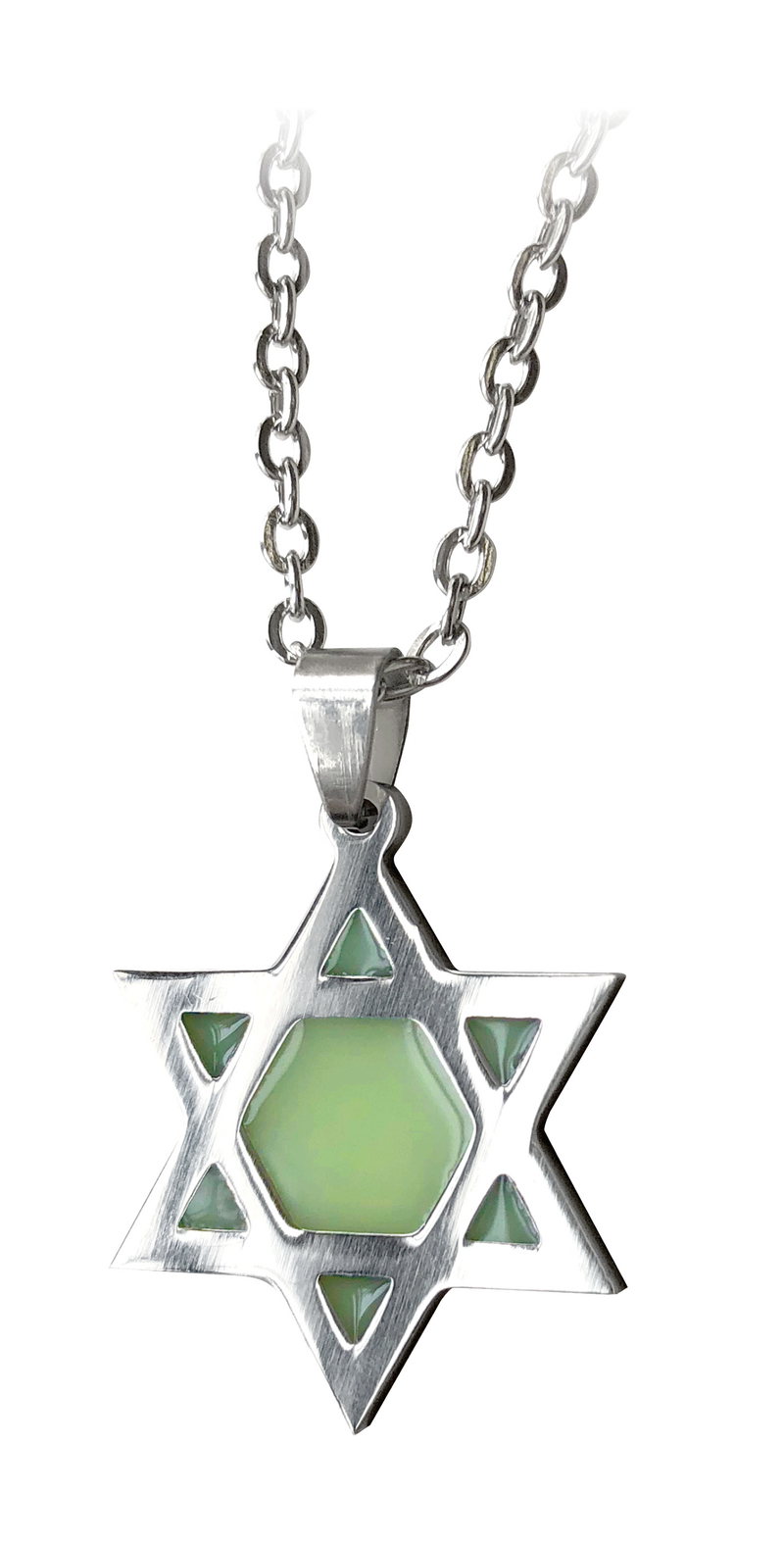 Glow in the Dark Star of David Necklace