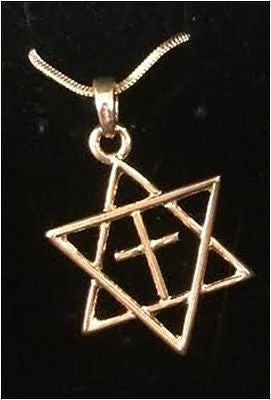 Cross in Star of David Necklace