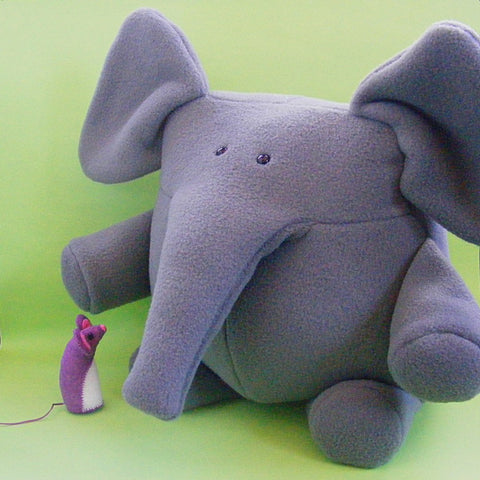 Napoleon and Josephine - Elephant and Mouse Softie Pattern