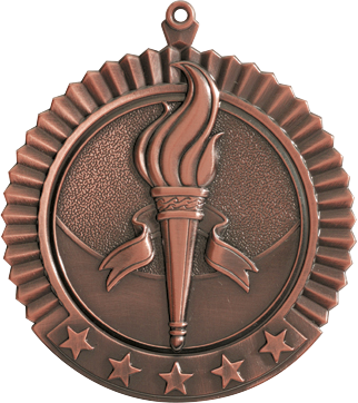 "Victory Star Medal, 2 3/4"" in bronze"