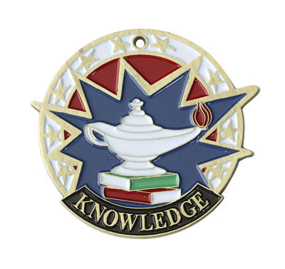 "Lamp of Knowledge USA Sport Medal, 2"" in gold"