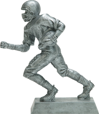 Football Runner, Male, Figure Resin in Silver