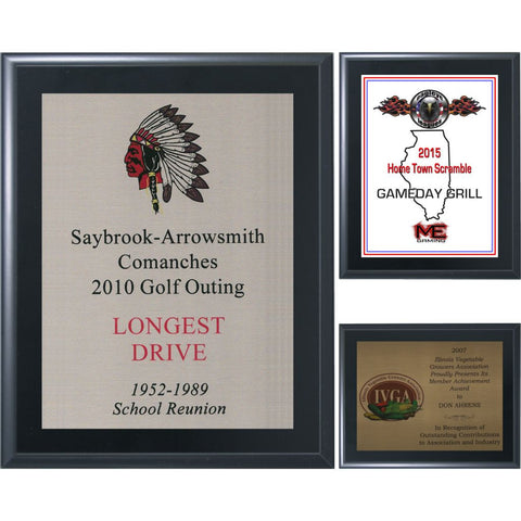 Black Matte Finish Plaque with Aluminum Plate Collection