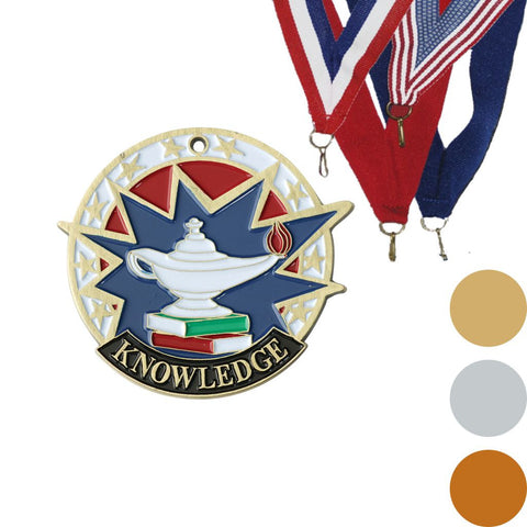 Lamp of Knowledge USA Sport Medal, 2""