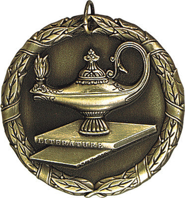 "Lamp of Knowledge XR Medal, 2"" in gold"