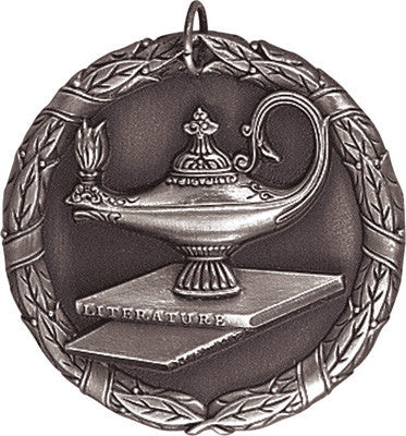 "Lamp of Knowledge XR Medal, 2"" in silver"