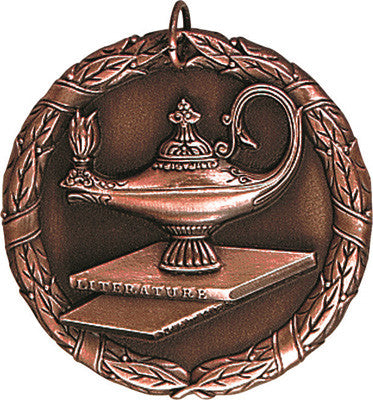 "Lamp of Knowledge XR Medal, 2"" in bronze"
