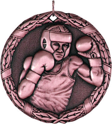 "Boxing XR Medal, 2"" in bronze"
