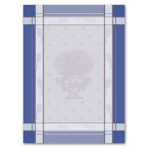 Cannes Azure Cotton French Jacquard Dish Towel