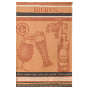 Coucke Bieres (Beer) French Jacquard Dish Towel