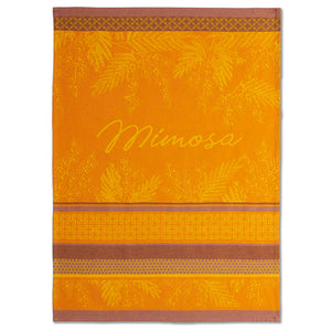 Mimosa Provence French Jacquard Dish Towel by Coucke