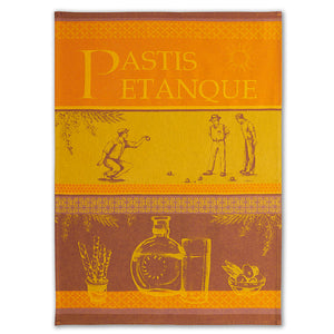 Pastis Petanque Provence French Jacquard Dish Towel by Coucke