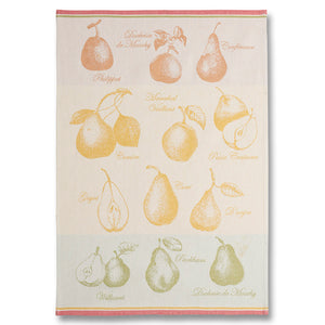 Quartiers de Poire (Pear Wedges) French Jacquard Dish Towel by Coucke