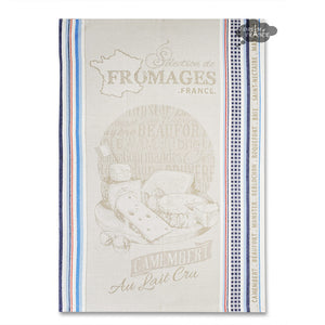 Selection de Fromages French Kitchen Towel by L'Ensoleillade