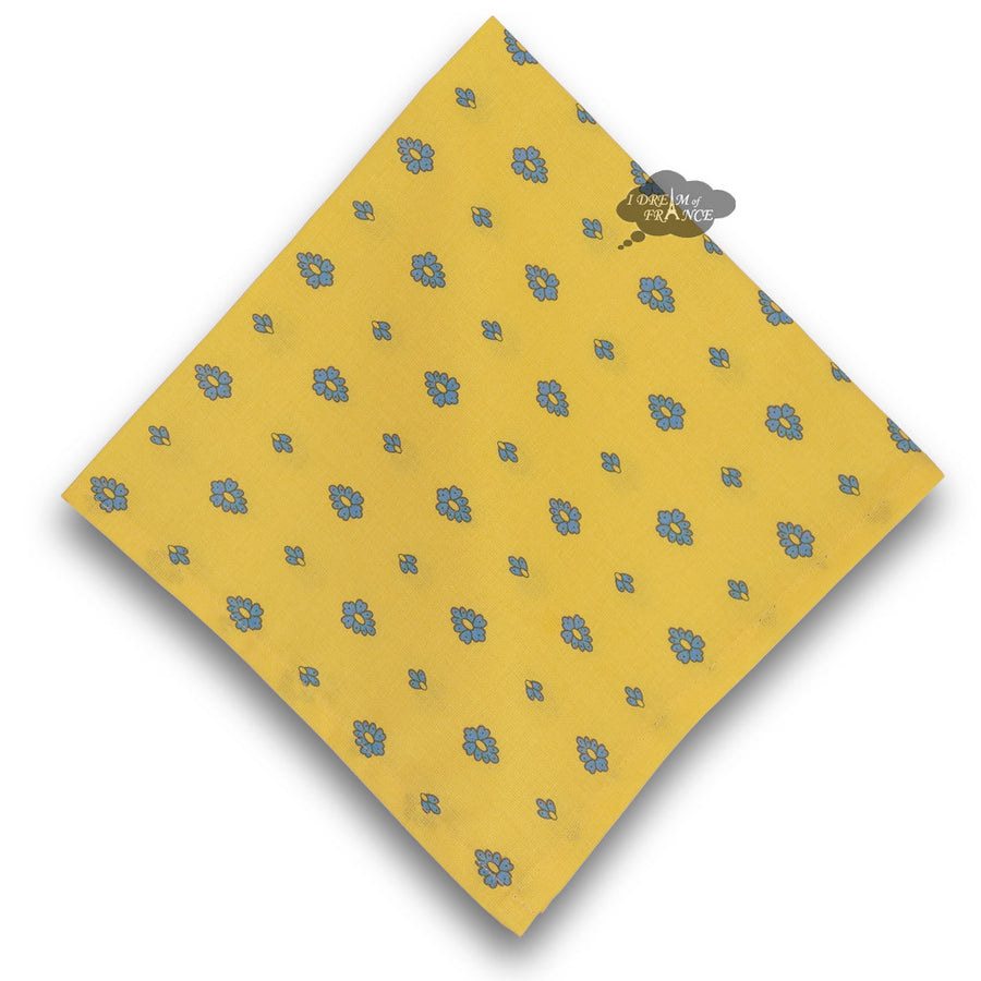 Grapes Yellow Provence Cotton Napkin by Le Cluny