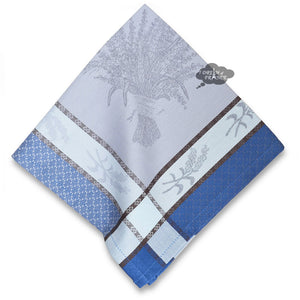 Cannes Azure French Jacquard Cotton Napkin
