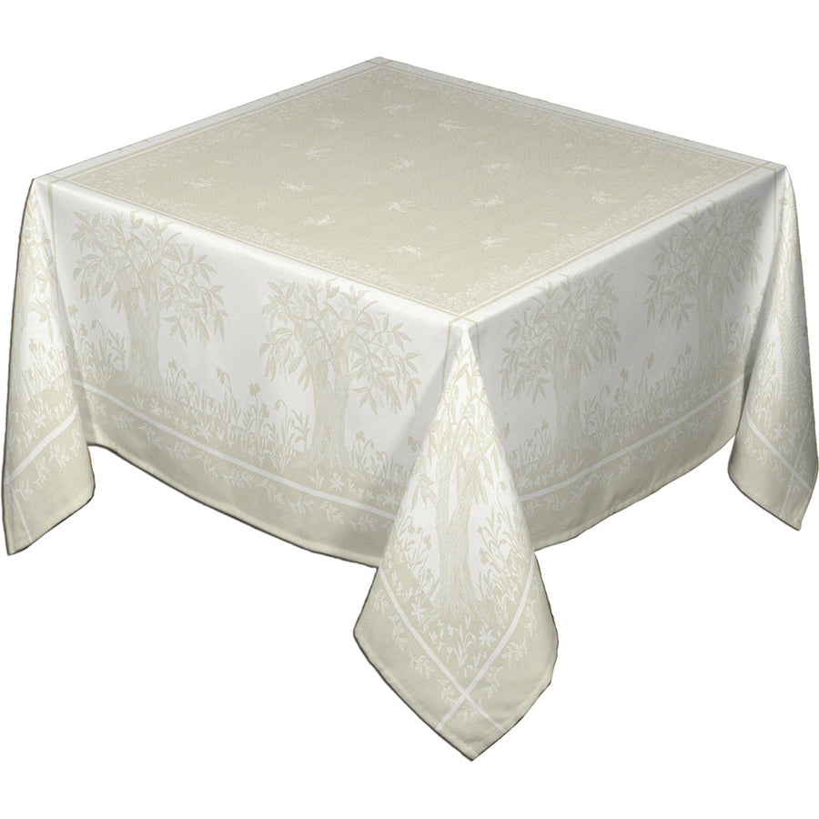 "62x78"" Rectangular Marseille French Damask Tablecloth with Teflon"
